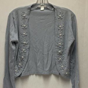 Lapis Cardigan Beads Sequins Light Blue Size Small